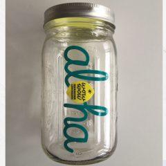 Maison Jar Wide Mouth 32oz Teal Blue